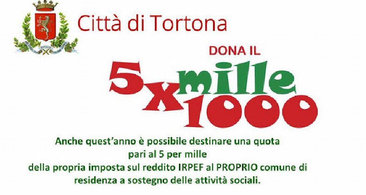 Dona il tuo 5 per mille al Comune di Tortona per sostenere le attività Sociali!