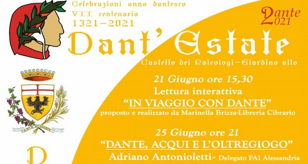 Ad Acqui Terme arriva Dant'estate: ciclo di incontri sulle celebrazioni dell'anno dantesco
