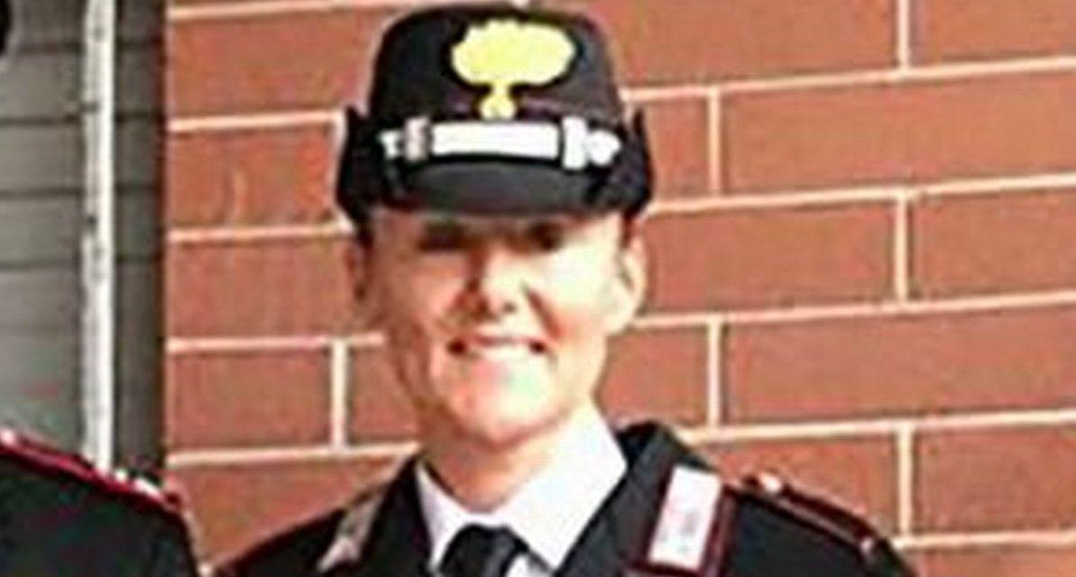Nadia Brero Comandante dei Carabinieri forestali di Stazzano premiata a Roma