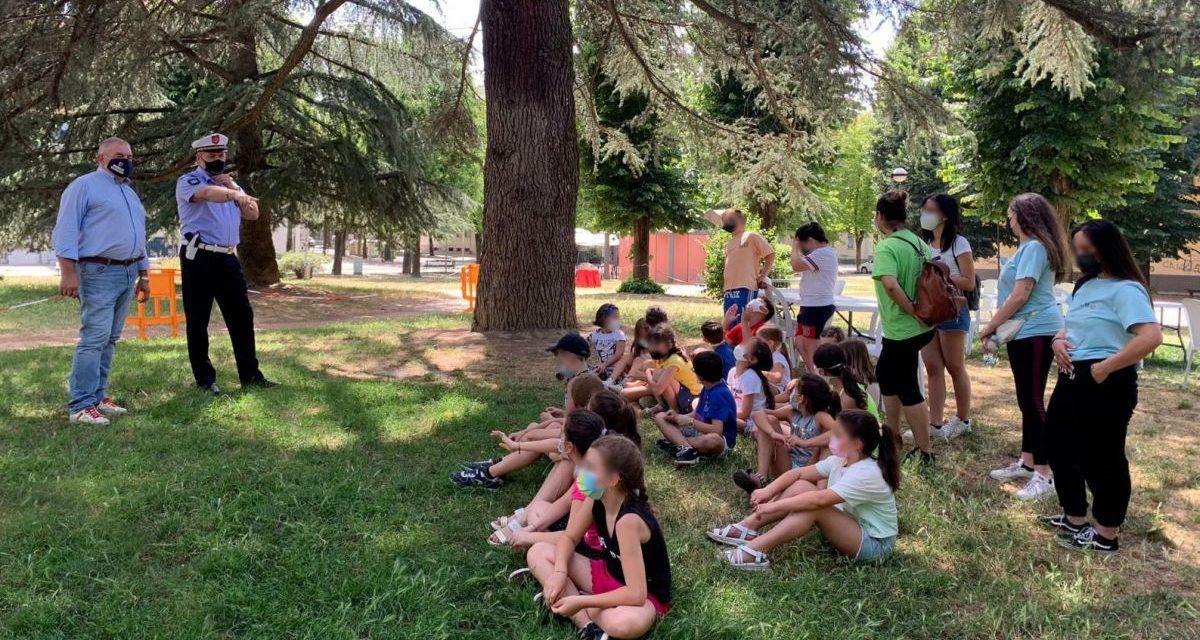 Sindaco e Assessori di Valenza in visita alla Scuola all'aperto della Don Minzoni