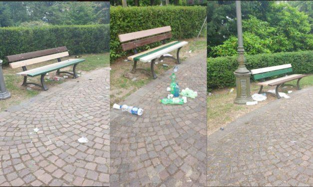 Tortonesi maleducati 2: abbandonano rifiuti sul Parco del Castello