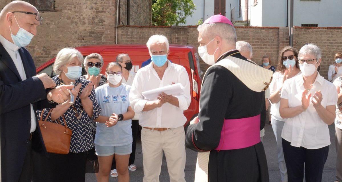 La nuova sede della Caritas di Pontecurone, benedetta dal Vescovo nelle immagini di Claudia Nalin