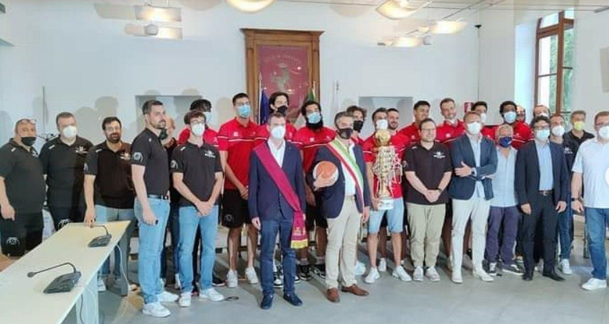 Il Comune ha ringraziato il Derthona basket per la promozione in Serie A