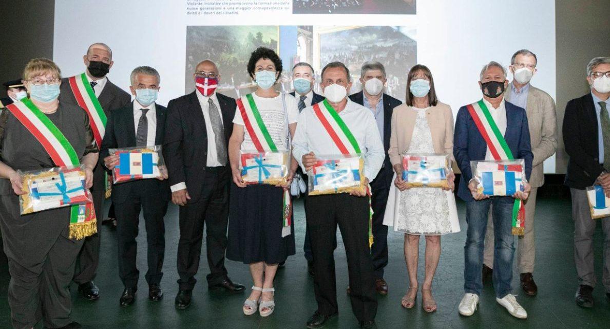 Il Comune di Tortona ha ricevuto il Drapo' la bandiera del Piemonte