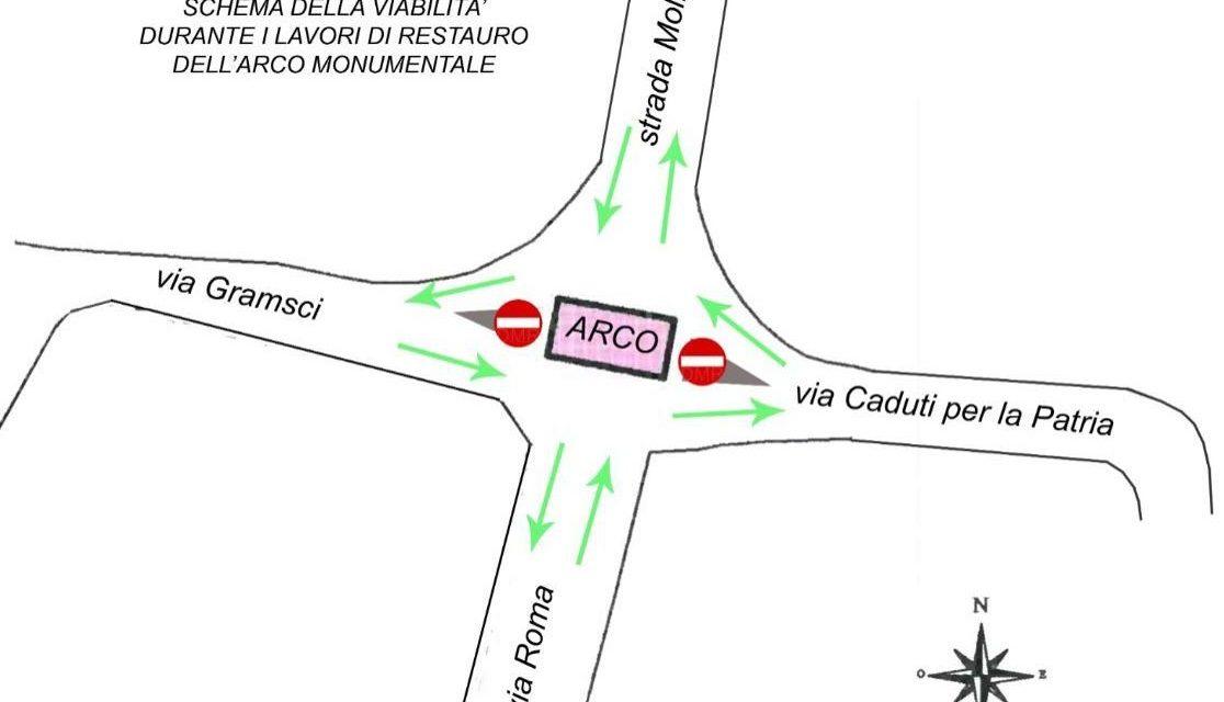A breve al via i lavori all'arco di Castelnuovo Scrivia: cambia la viabilità