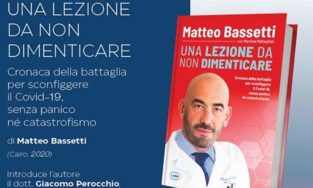 Il Prof. Matteo Bassetti giovedì alla rassegna Novi d'Autore