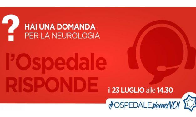 L'ospedale di Alessandria risponde: domani in diretta la Neurologia
