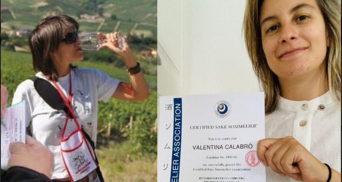 La Tortonese Valentina Calabrò é diventata sommelier   con un diploma da Londra