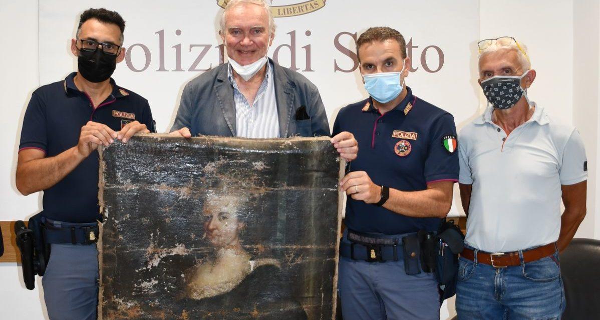 Sanremo, ritrovata e restituita dalla Polizia la tela trafugata da Palazzo Borea d'Olmo