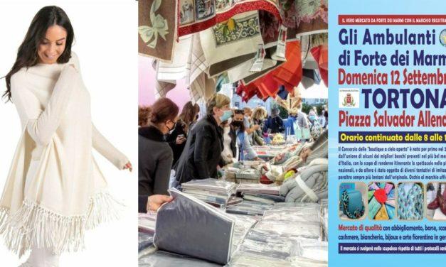 """Domenica """"Gli Ambulanti di Forte dei Marmi®"""" ritornano a Tortona dalle 8 alle 19"""