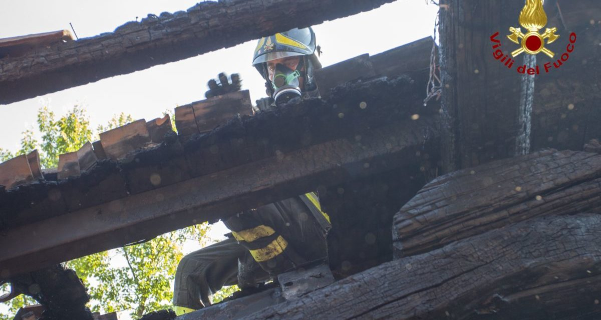 Incendio a Voltaggio, brillante intervento dei Vigili del Fuoco di Novi