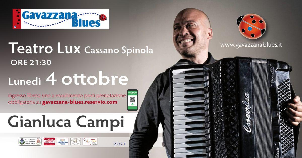 A Cassano Spinola lunedì concerto di Gianluca Campi
